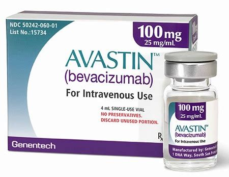 AVASTIN 100mg (bevacizumab) Vial for Intravenous Use  AVASTIN,bevacizumab
