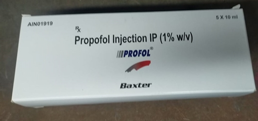PROFOL (propofol) 5 x 10 mL. Injectable Emulsion 1% PROFOL, Propofol, propofol injection, emulsion